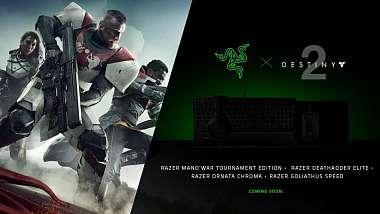 Razer pro vydání Destiny 2 připraví periferie ve speciálním designu