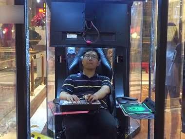 Herní koutky pro znuděné manžely v čínských nákupních centrech