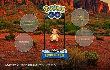Květnový komunitní den a trojnásobné stardusty v Pokemon: GO