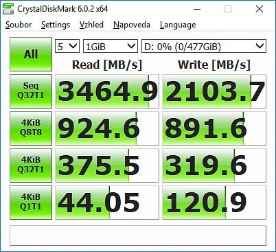 Rychlost Viper SSD