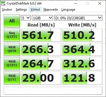 Test Rychlosti RGB Delta SSD